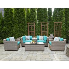 Florence 6 Piece Lounge Seating Group Set with Cushion