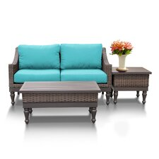 Manhattan 3 Piece Sofa Seating Group with Cushion