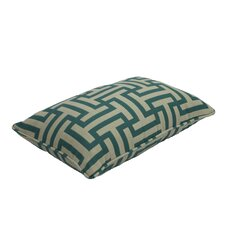 Premium Single Piped Zippered Lumbar Pillow