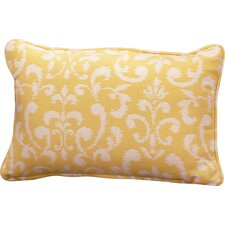 Everyday Single Piped Zippered Outdoor Throw Pillow