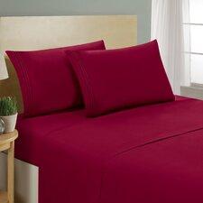 1800 Platinum 4 Piece Bed Sheet Set