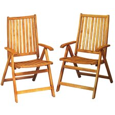 Acacia Wood Folding Chairs Outdoor Patio Furniture