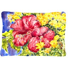 Hibiscus Indoor/Outdoor Throw Pillow