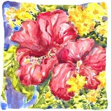 Hibiscus Indoor/Outdoor Throw Pillow