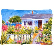 Seaside Beach Cottage Indoor/Outdoor Throw Pillow