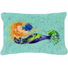 Mermaid Indoor/Outdoor Throw Pillow