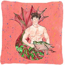Merman Indoor/Outdoor Throw Pillow