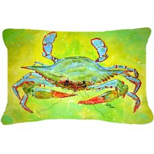 No Copoun Blue Crab Indoor/Outdoor Throw Pillow