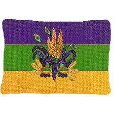 Mardi Gras Mask Indoor/Outdoor Throw Pillow
