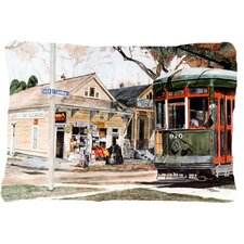 New Orleans Streetcar Indoor/Outdoor Throw Pillow