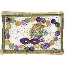 Mardi Gras Beads Indoor/Outdoor Throw Pillow