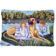 Angels with Great Dane Indoor/Outdoor Throw Pillow