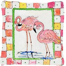Wonderful Flamingo Indoor/Outdoor Throw Pillow