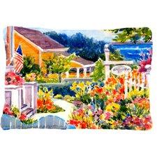 Seaside Beach Cottage Indoor/Outdoor Throw Pillow