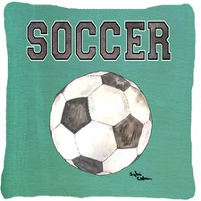 Soccer Indoor/Outdoor Throw Pillow