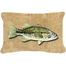 Small Mouth Bass Indoor/Outdoor Throw Pillow