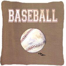 Baseball Indoor/Outdoor Throw Pillow