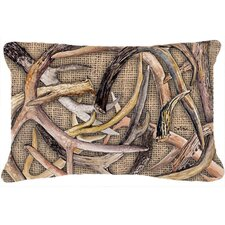 Deer Horns Indoor/Outdoor Throw Pillow