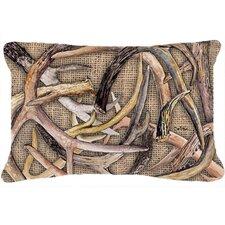 Sale Deer Horns Indoor/Outdoor Throw Pillow
