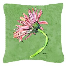 Gerber Daisy Pink Indoor/Outdoor Throw Pillow