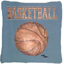 Basketball Indoor/Outdoor Throw Pillow