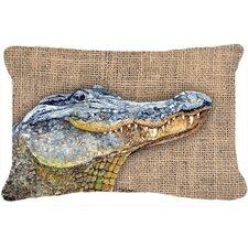Alligator Indoor/Outdoor Throw Pillow