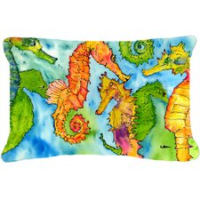 Herry Up Sea Horse Indoor/Outdoor Throw Pillow