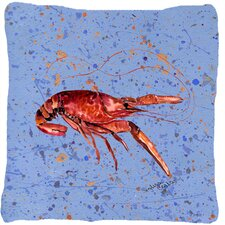 Modern Crawfish Indoor/Outdoor Throw Pillow