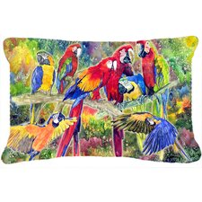 Parrot Indoor/Outdoor Throw Pillow