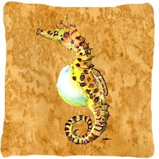 Seahorse Indoor/Outdoor Throw Pillow