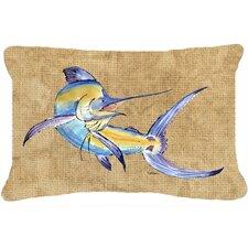 Blue Marlin Indoor/Outdoor Throw Pillow