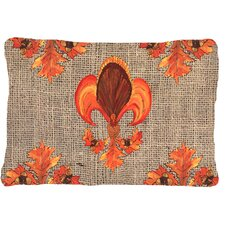 Thanksgiving Turkey Fleur De Lis Indoor/Outdoor Throw Pillow