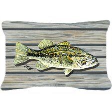 Fish Bass Small Mouth Indoor/Outdoor Throw Pillow