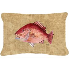 Fresh Strawberry Snapper Indoor/Outdoor Throw Pillow