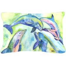 Dolphin Indoor/Outdoor Throw Pillow