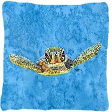 Turtle Indoor/Outdoor Throw Pillow