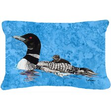 Momma and Baby Loon Indoor/Outdoor Throw Pillow