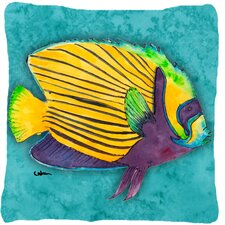 Fresh Tropical Fish Throw Pillow