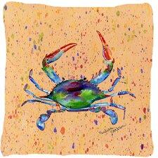 Fresh Crab Indoor/Outdoor Throw Pillow