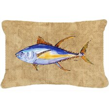 Great Reviews Tuna Fish Indoor/Outdoor Throw Pillow