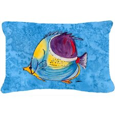 Savings Tropical Fish Indoor/Outdoor Throw Pillow