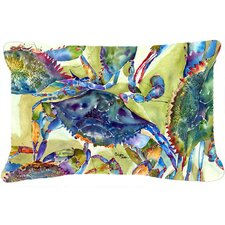 Crab All Over Indoor/Outdoor Throw Pillow