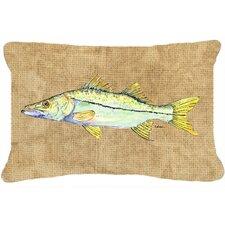 Snook Indoor/Outdoor Throw Pillow