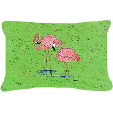 No Copoun Flamingo Indoor/Outdoor Throw Pillow