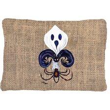 Halloween Ghost Spider Bat Fleur De Lis Indoor/Outdoor Throw Pillow