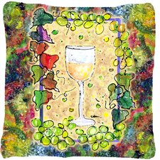 #1 Wine Indoor/Outdoor Throw Pillow