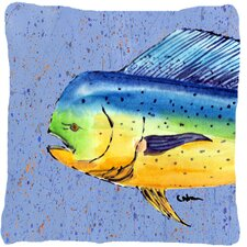 Dolphin Mahi Mahi Indoor/Outdoor Throw Pillow