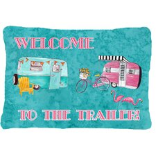 Welcome To The Trailer Indoor/Outdoor Throw Pillow