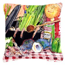 Gumbo and Potato Salad Indoor/Outdoor Throw Pillow