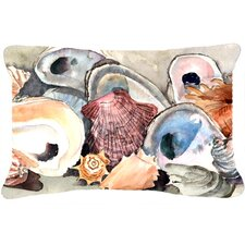 Sea Shells Indoor/Outdoor Throw Pillow